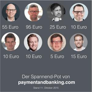 Der SPANNEND – POTT – Update 30.10.2015 – 277.50 Euro + 0,15BTC