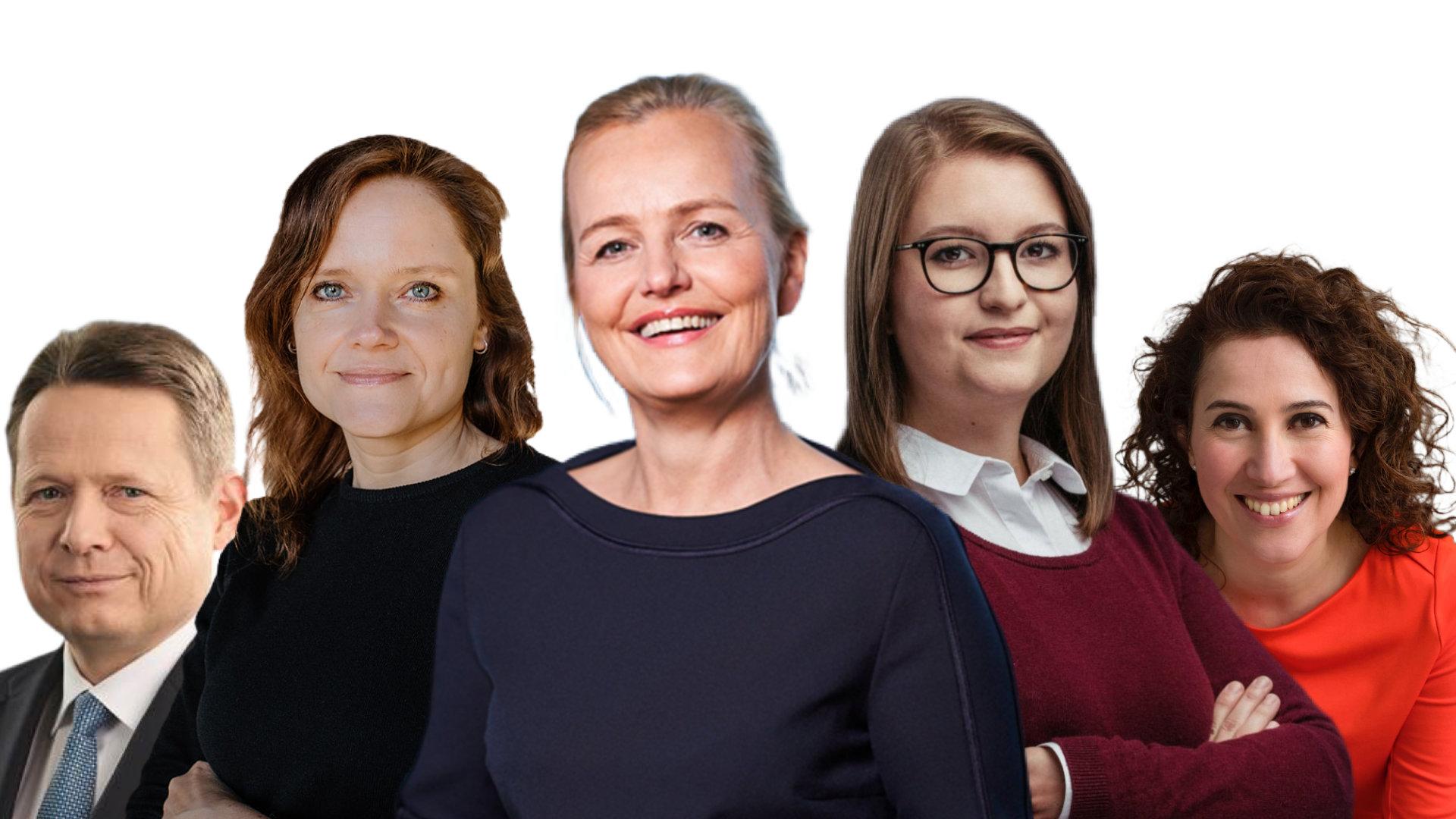 Delia D. König (Solarisbank), Andrea Fernandez (Alice), Cornelia Schwertner, Dr. Ralph Müller (Fintech-Investor/Vorstand IKB), Ute König-Stemmler (Visa)