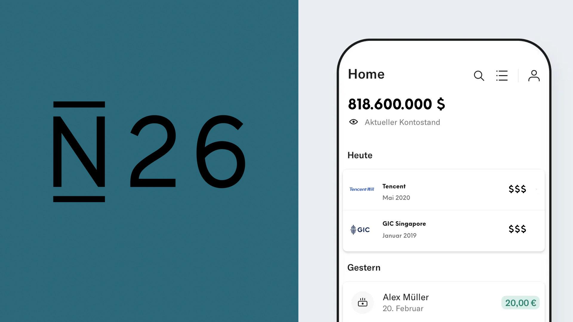 N26 hat bisher 818,6 Mio. Dollar an Fundings eingesammelt (Bildmontage Payment & Banking)